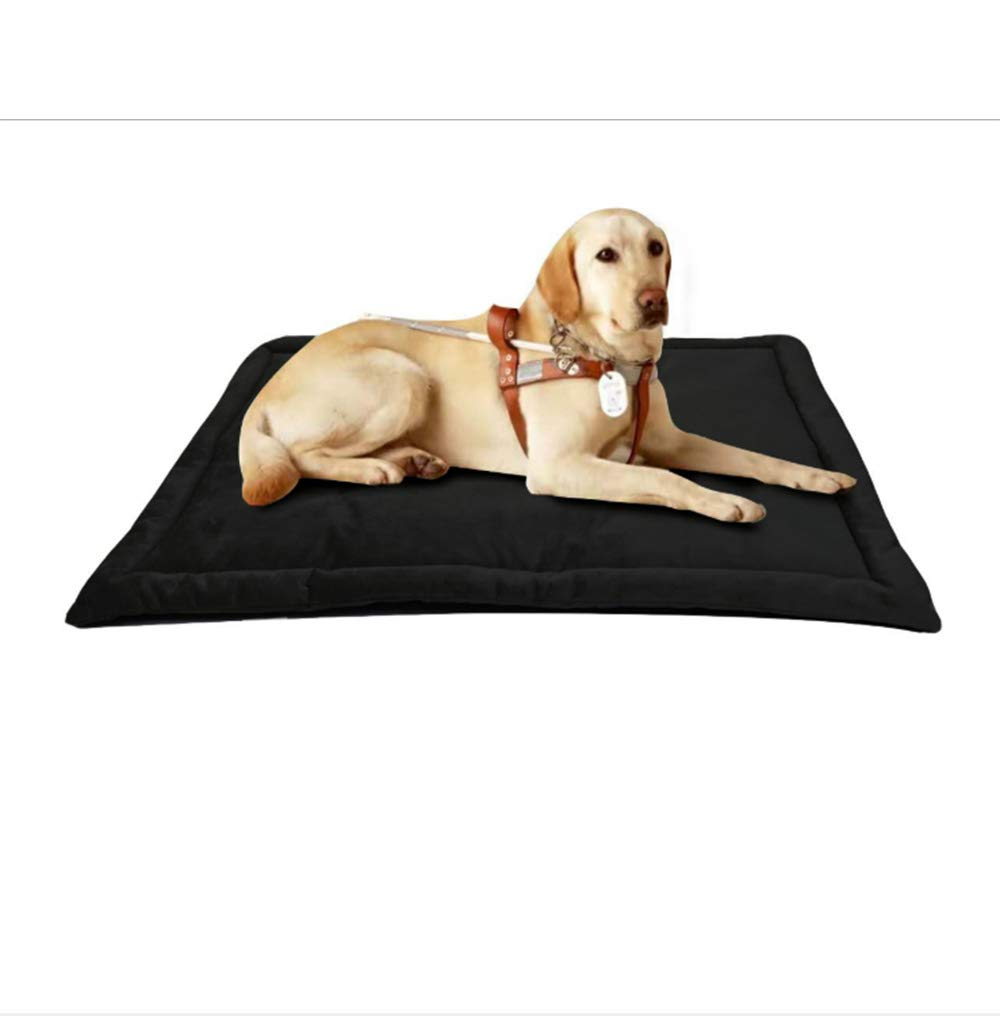 Black Large Black Large Dog Bed Cat Mat Mattress Soft Warm Pet Fleece Slip,Black,L