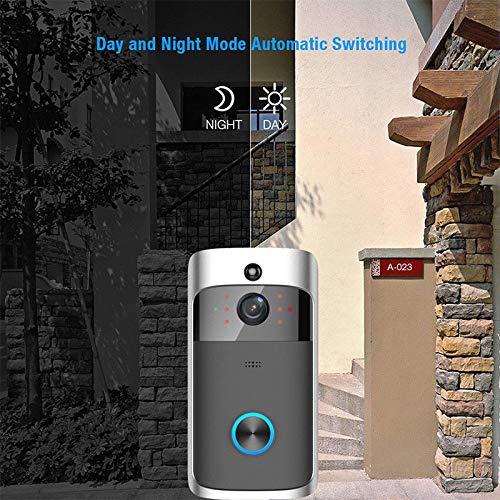 Wireless WiFi DoorBell Smart Video Phone Door Visual Ring Intercom Secure Camera Silver