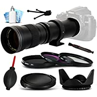 Opteka 420-800mm f/8.3 HD Telephoto Zoom Lens Bundle Package includes 3 Piece UV-CPL-FL Filters + Tulip Hood + Cap Keeper + Snap On Lens Cap + Air Dust Blower + Lens Pen + Cleaning Kit for Sony Alpha 7, 7R, 7S, A3000, A3500, A5000, A5100, A6000, NEX-3, NEX-3N, NEX-3NL, NEX-5, NEX-5N, NEX-5R, NEX-5T, NEX-5TL, NEX-6, NEX-6L, NEX-7, NEX-C3, NEX-F3, NEX3, NEX5, NEX6, NEX7 DSLR SLR Digital Camera
