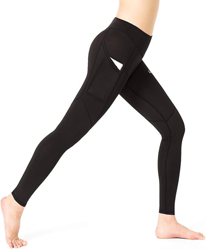 Amazon.com: A&J Leggings de yoga para mujer, diseño de dos ...