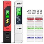 Tester PH/TDS&EC 4 in 1 Set, ZOTO PH Acqua con LCD Display, Multi-Funzione Compensazione Automatica della Temperatura…