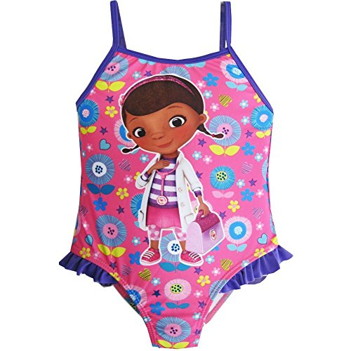 Disney Little Toddler Girls Pink Purple Doc McStuffins One Piece Swimsuit 4T