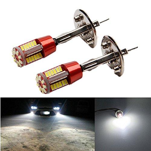 FEZZ LED Bombillas de Coche Auto LED H1 3014 57SMD Lamparas Iluminación Para faros antiniebla DRL 6000K Blanco (Paquete de 2): Amazon.es: Coche y moto