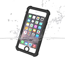 iPhone 6S Waterproof Case, iThrough® iPhone 6S Underwater Case, Dust Drop Snow Shock Proof, IP68 With Touch ID Heavy Duty Protective Carrying Vehicle-Mounted Design Case Cover for iPhone 6 6S (Black)