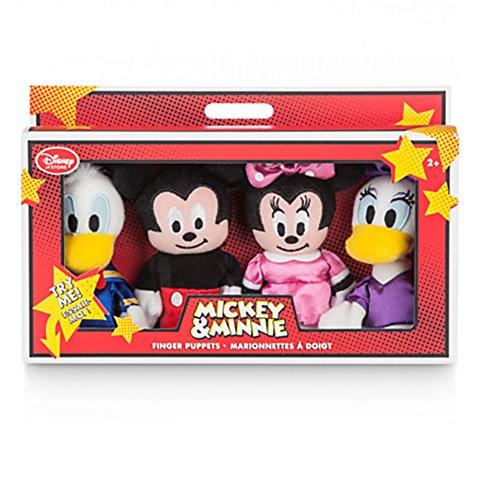 [Official Disney Mickey Mouse & Friends 4 Finger Puppets Set] (Daisy Duck Costume)