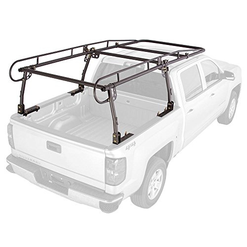 Rage Powersports UPUT-RACK-V2 Apex Contractor Pickup Truck Ladder Rack with Cab Overhang (25' Cab Height)
