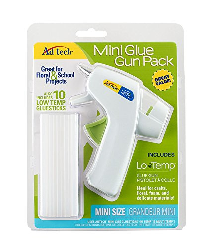 AdTech Adhesive Technologies 05672 Mini Lo-Temp Glue Gun Combo Pack Glue Gun & Glue Sticks AdTech