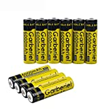 Garberiel 10pcs 3.7v 6000mah Rechargeable 18650 Batteries Powerful Battery for LED Lights (Not Flat Top,NOT AA or AAA))