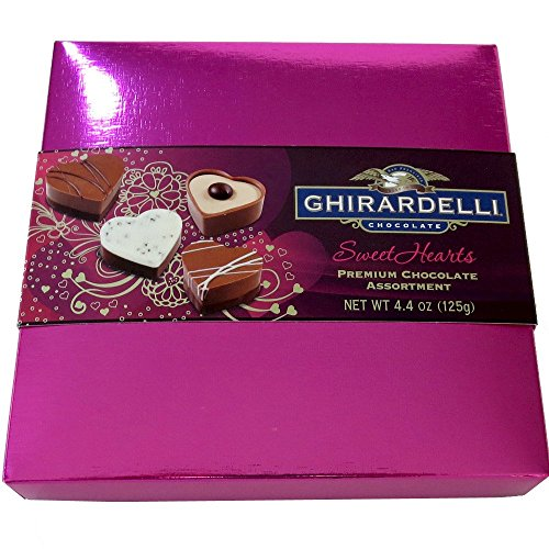Ghirardelli Sweethearts for my Valentine Chocolates, 4.4-Ounce Gift Box