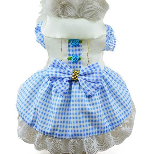 FAPIZI ☀ Pet clothes ☀ Pet Puppy Small Dog Cat Princess Tutu Dress Clothes Costume (XS, Blue) (Cat Tutu)
