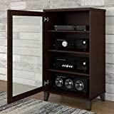 Bush Furniture Somerset Media Cabinet in Mocha Cherry