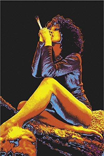 24''x36'' Smoking Woman Blacklight Poster