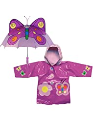 Kidorable Butterfly Rain Coat and Umbrella Set