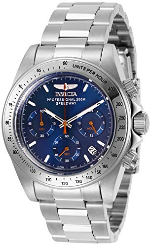 Invicta Men's Speedway Quartz Watch with Stainless Steel Strap, Silver, 20 (Model: 27770)
