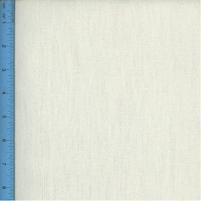Hemp Plain-Weave Canvas White Home Decorating Fabric, Fabric Sold By the Yard