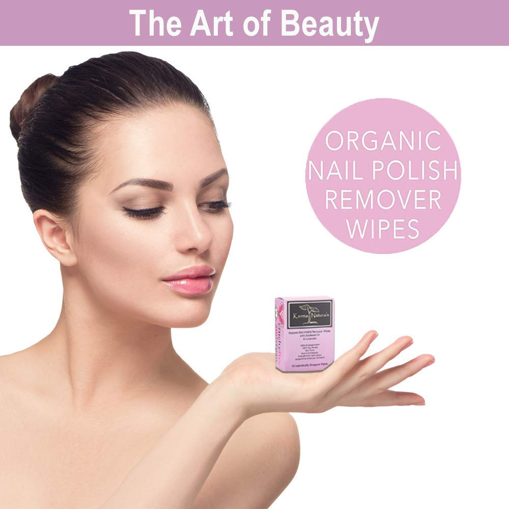 Nail Polish Remover Wipes; Non-Toxic, Vegan, Cruelty-Free by Karma Organic Spa: Amazon.es: Belleza