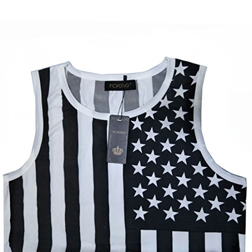 F.C.Men American Flag Print Wave...