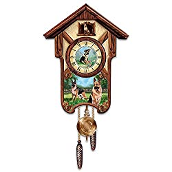 Linda Picken German Shepherd Cuckoo Clock with Barking Dog by The Bradford Exchange
