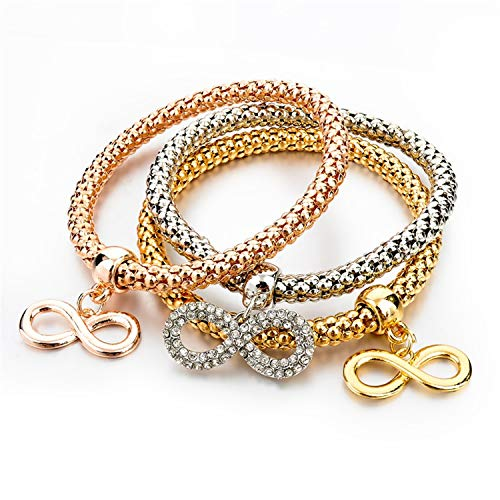 ain Gold Bracelets for WomenFashion Jewellery Crystal Ball Pendant Charm Bracelets Pulseria(Adjustable,Pure Gold Color) ()