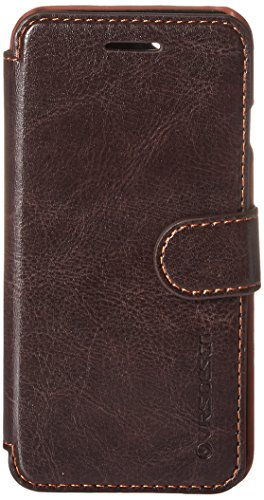 iPhone 6S Case, Verus [Layered Dandy][Coffee Brown] - [Premium Leather Wallet][Slim Fit][Card Slot] For Apple iPhone 6 6S 4.7