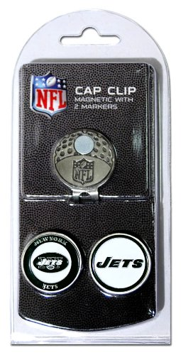 NFL New York Jets Cap Clip With 2 Golf Ball Markers - Ball Jet