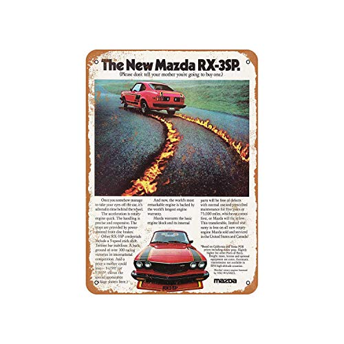 Fhdang Decor Vintage Pattern 1977 Mazda RX-3SP 2 Vintage Look Aluminum Sign Metal Sign,6x9 Inches