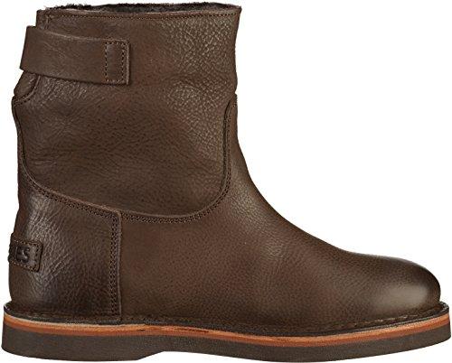 Shabbies Amsterdam 181020053 Damen Stiefelette Braun(Braun (dark brown/waxed grain leather))