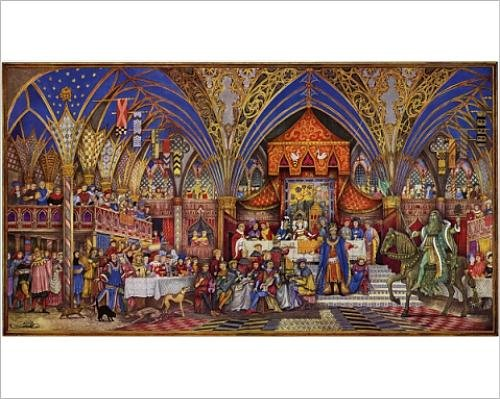 Photographic Print of Sir Gawain and the Green Knight by William McLaren