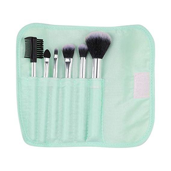 MINISO Makeup Brush Set 7PCS Foundation Brush Set for Face Makeup, Pale Turquoise
