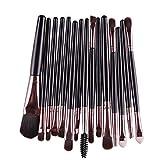 Gillberry 15 pcs/Sets Eye Shadow Foundation Eyebrow Lip Brush Makeup Brushes Tool (Black)