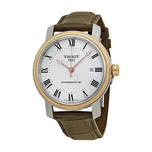 Tissot Bridgeport Powermatic 80 Brown Leather Men's Watch T0974072603300 - Bridgeport Leather