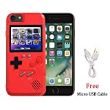 Playable Gameboy Case for iPhone 6P/6SP/7P/8P, Chu9 Retro 3D Shockproof Gameboy Cover Case with 36 Classic Games, Handheld Color Screen Video Game Console Case for iPhone (Red, iPone 6P/6SP/7P/8P)