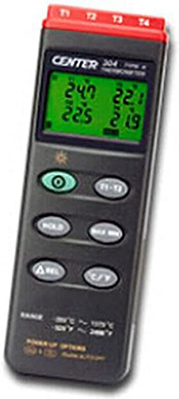 RaeSung CENTER-304 Portable K Type//Four Channels//PC Interface//4 Channels Input Thermocouple Thermometer CENTER304