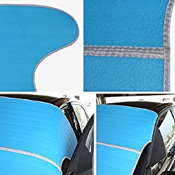 Thunder Snow Off Car Windshield Snow Cover Sun Shade Protector Automotive Hood Covers Fits Cars CRV SUV 7938 Inch