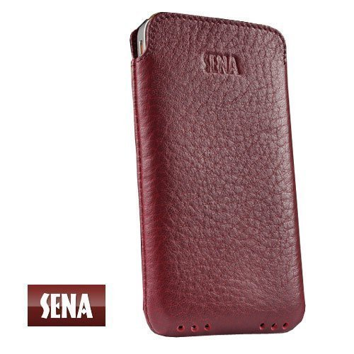 SENA 158801 Bumper Leather  Holster for iPhone 4 & 4S - H...