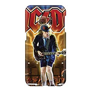 Protective Cell-phone Hard Cover For Samsung Galaxy S6 (loT17163WWkB) Customized Colorful Ac Dc Band Pattern