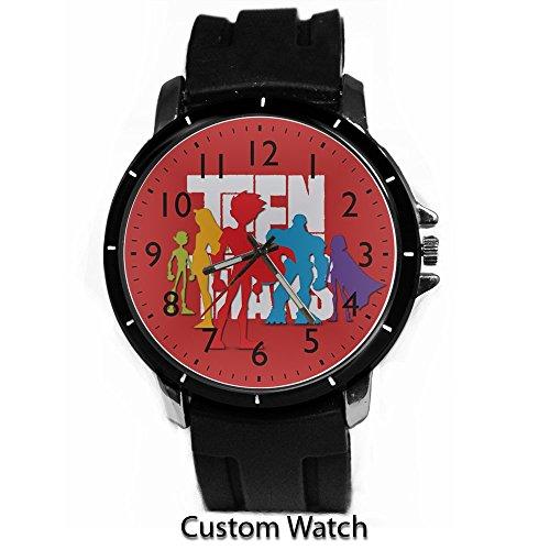DC+Comics+Watch Products : Dc Comic Teen Titans Cartoon Custom Watch Rubber Band Wrist Watch