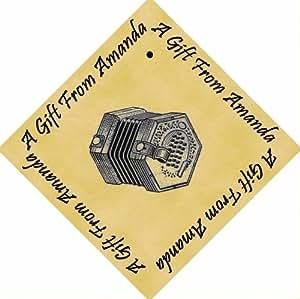 12unidades personalizada Pergamino 6cm cuadrado etiquetas de regalo Concertina