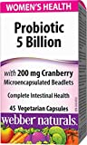 Webber Naturals Women's Probiotic with Cranberry Capsule