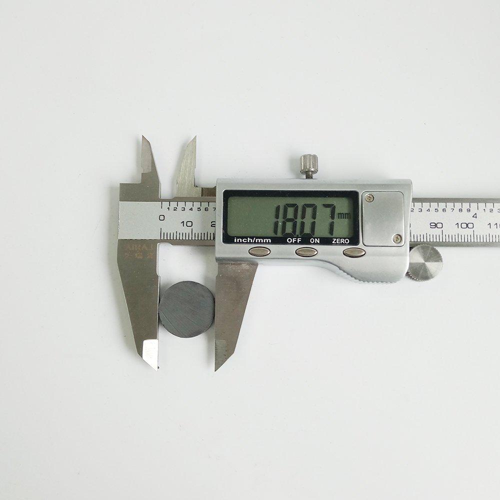 D18x5mm Ferrite Ceramic Round Magnets - 100pcs