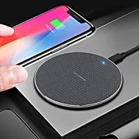 Celikler Fast Wireless charger 10W Upgraded version Charging Pad 2020 Compatible with iphone 11/11 Pro/11 Pro Max/XS Max/XR/XS/X/8/8plus, 10W Fast Charging for Galaxy Note 10/Note 10 Plus/S10/S10+/S10E/Note 9/S9/Note 8