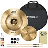 "SABIAN HH Remastered Cymbal Pack: 14"" HH Fusion Hi-Hats(11450) & 22"" AAX Omni(2220MX) with ChromaCast Accessories"