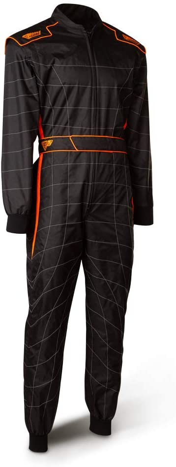 Speed Racewear Cordura Atlanta CS-2 colore Tuta da corsa nero//arancione fluo