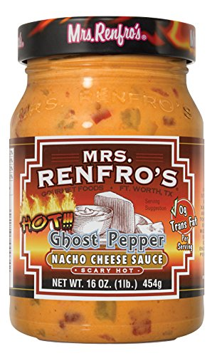 Mrs. Renfro's Nacho Cheese Sauce with Ghost Pepper - 2jar pack Creamy Salsa Dip