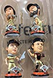 FOCO MLB San Francisco Giants 2012 World Series Champions Mini Bighead Bobble (4-Pack), Orange