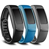 FUNKID Band for Garmin Vivofit 2 Replacement Wristbands for Garmin Vivofit2 Bands (Large-Black,Blue,Slate)