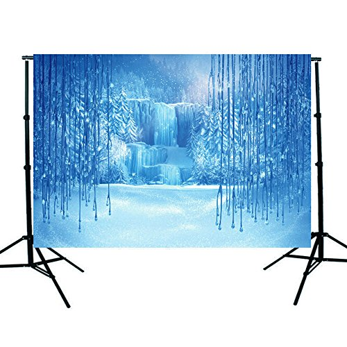 Winter Scene Setters - DODOING 7x5ft Christmas Winter Frozen Snow