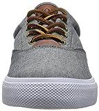 Polo Ralph Lauren Men's Vaughn Sneaker,Grey/Red,17