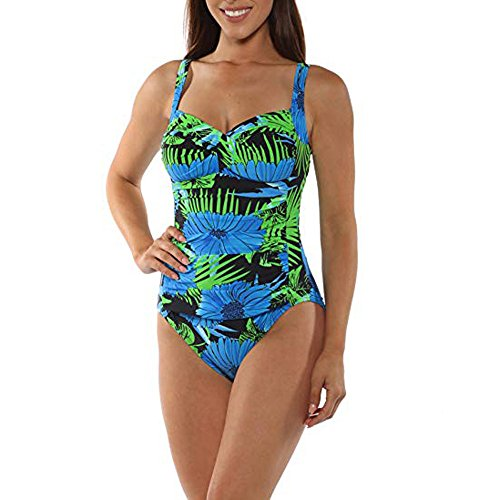 HYIRI 2019 New Women's Floral Shirred LovelyTummy Control One Piece Bikini Swimwear Swimsuit -