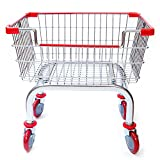 Cart&supply Coin Laundry Cart, Laundry Cart[chrome]without Pole Rack (RED)